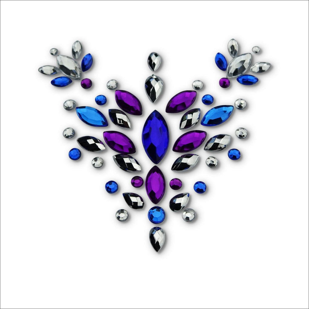 Super Nova | Purple, Blue & Silver One Piece Festival Face Gem | Jewel Fusion-FunkOn