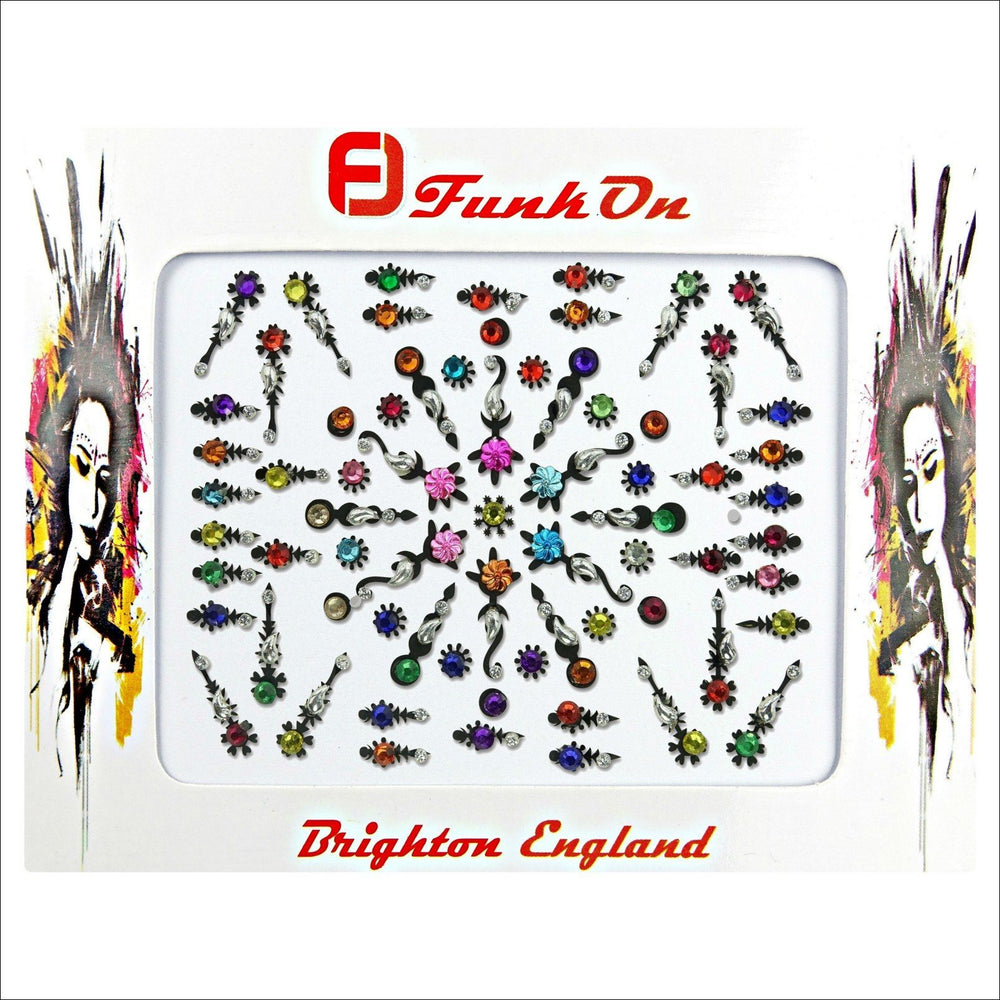 Talisman | Creative Gem Multi Pack | Multicoloured Festival Face Jewels-FunkOn