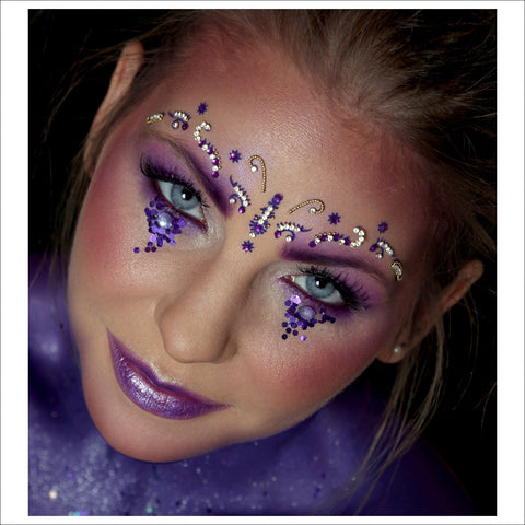 Violet Galaxy | Purple Face Jewel| Festival Brow Gem-FunkOn