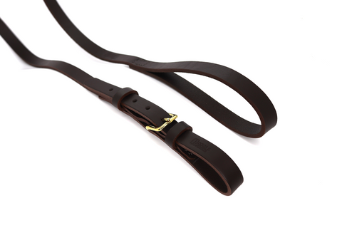 Dogs & Horses Classic Leather Buckle dog Lead