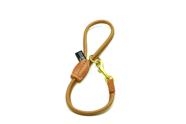 D&H Rolled Leather Short Dog Lead