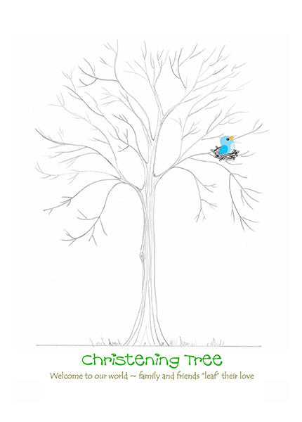 Christening Tree Blue Chick