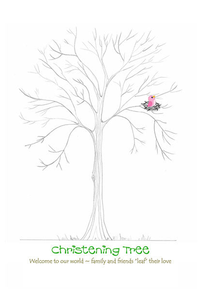 Christening Tree Pink Chick