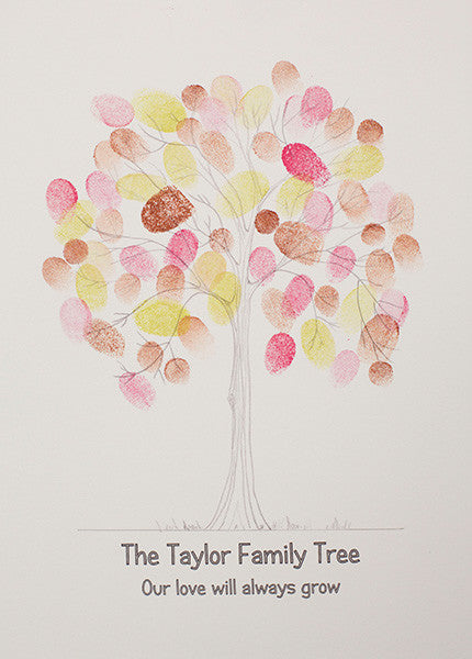 Beautiful Family Tree Fingerprint Tree