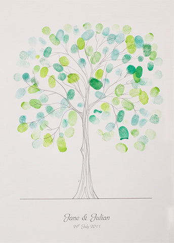 Original Hand Drawn Fingerprint Tree