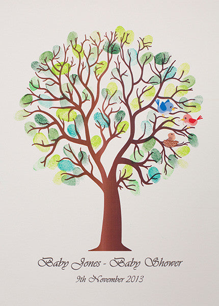 Printed Fingerprint Tree Guest Book Buy Online Today