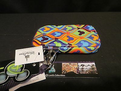 Disney Parks Authentic Mickey Fusion Pattern DTECH cell phone case wristlet