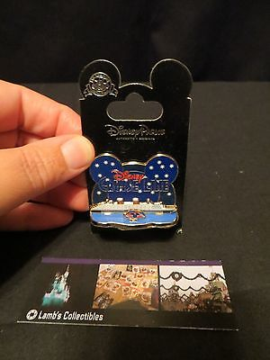 Disney Pin DCL Cruise Line Ship Starry Night w/ Mickey Wave Logo Diorama New