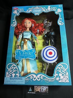 Disney Store Authentic Merida Deluxe Talking Doll Set - 11'' Brave Bear Cubs