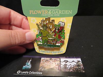Disney Epcot Flower & Garden 2014 LE5000 Peter Pan Captain Hook