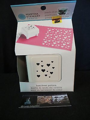 Martha Stewart heartbeat pattern punch all over the page art scrapbooking