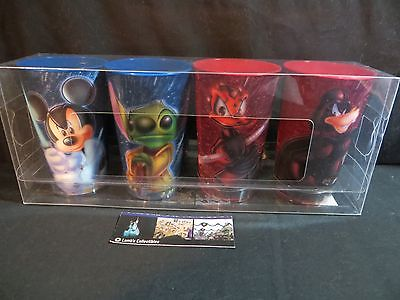 Disney Parks Authentic Star Wars Disney characters set of 4 hologram cups