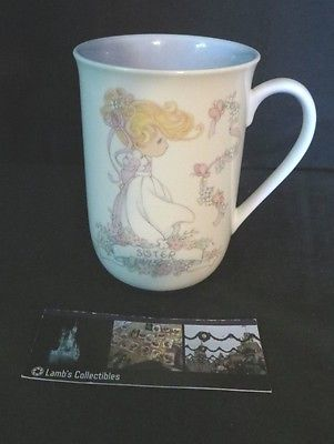Precious Moments cup mug sister A lifetime of memories shared A friend forever