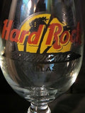 "Hard Rock Cafe Hurricane Glass - Dallas has Recipe - 10"" tall approx"