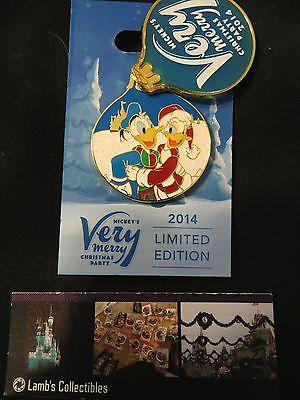 Disney Parks Mickey's Very Merry Christmas Party 2014 Daisy Donald Duck pin