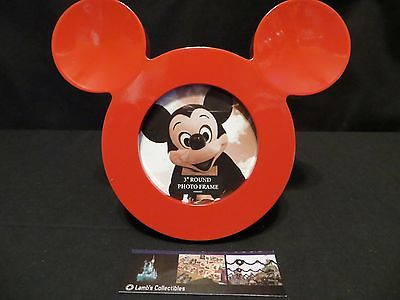 "Disney Parks Authentic Mickey Mouse ICON Red 3"" photo frame"