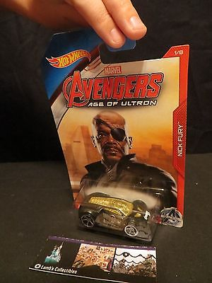 Nick Fury Ultra Rage Avengers Age of Ultron Hot wheels 5/8 die cast car
