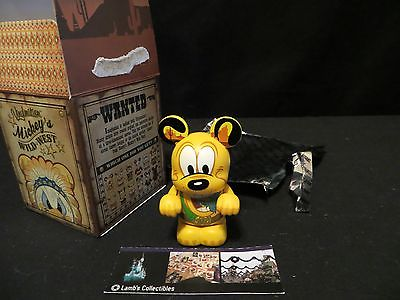 "Disney Parks Authentic Pluto 3"" Vinylmation Mickey's Wild West series"