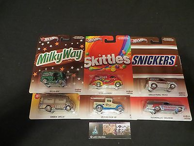 Hot Wheels Nostalgia Pop Culture Mars Candy complete SET OF 6