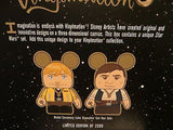Luke & Han Solo Vinylmation Disney Parks Authentic Star Wars Weekends 2015 LE
