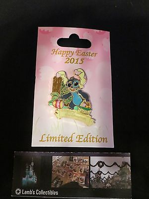 Disney Parks Authentic Pin Stitch as Easter Bunny 2015 LE 3000