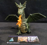 2005 Papo Green Fire breathing Dragon figurine