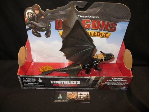 Dreamworks Dragons Toothless Race to the Edge Wing flapping yellow tan tail 11""