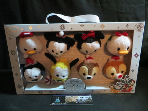 Christmas Tsum Tsum USA Mickey Mouse, Minnie Mouse, & Friends Disney Store