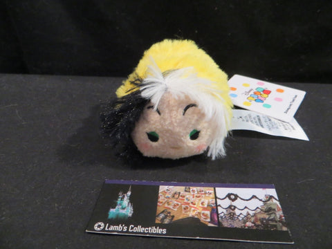 "Disney Store Cruella villains collection mini 3.5"" tsum tsum plush toy"