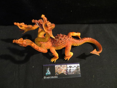 4 headed orange dragon Dragon Safari Ltd figurine