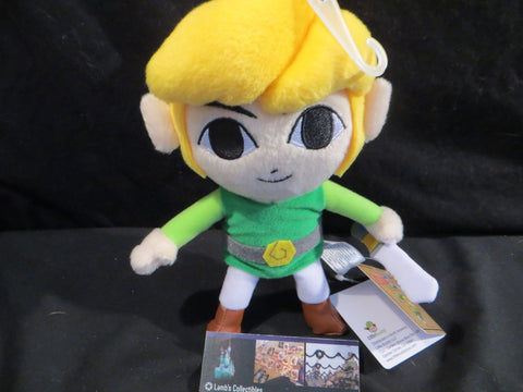 "Little Buddy Link Phantom Hourglass Legend of Zelda 7.5"" plush toy"