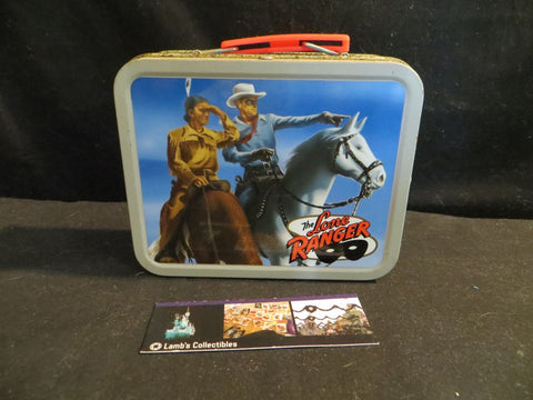 Cheerios miniature metal lunch box promo featuring Lone Ranger & Tonto