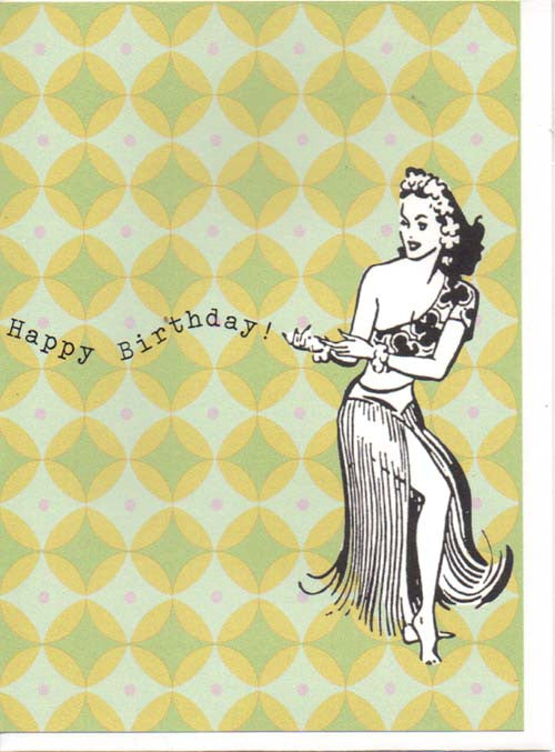 Happy Birthday Dancers Vintage Retro 1950s Birthday Greeting Cards