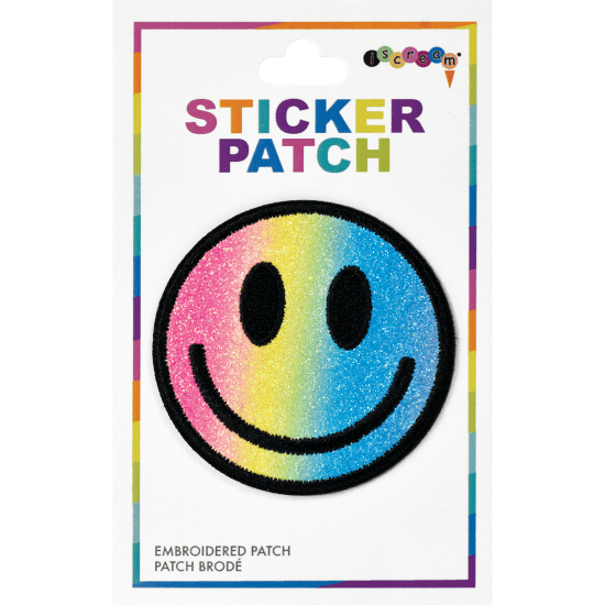 Smiley Face Embroidered Sticker Patch