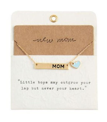 New Mom Necklace - Blue
