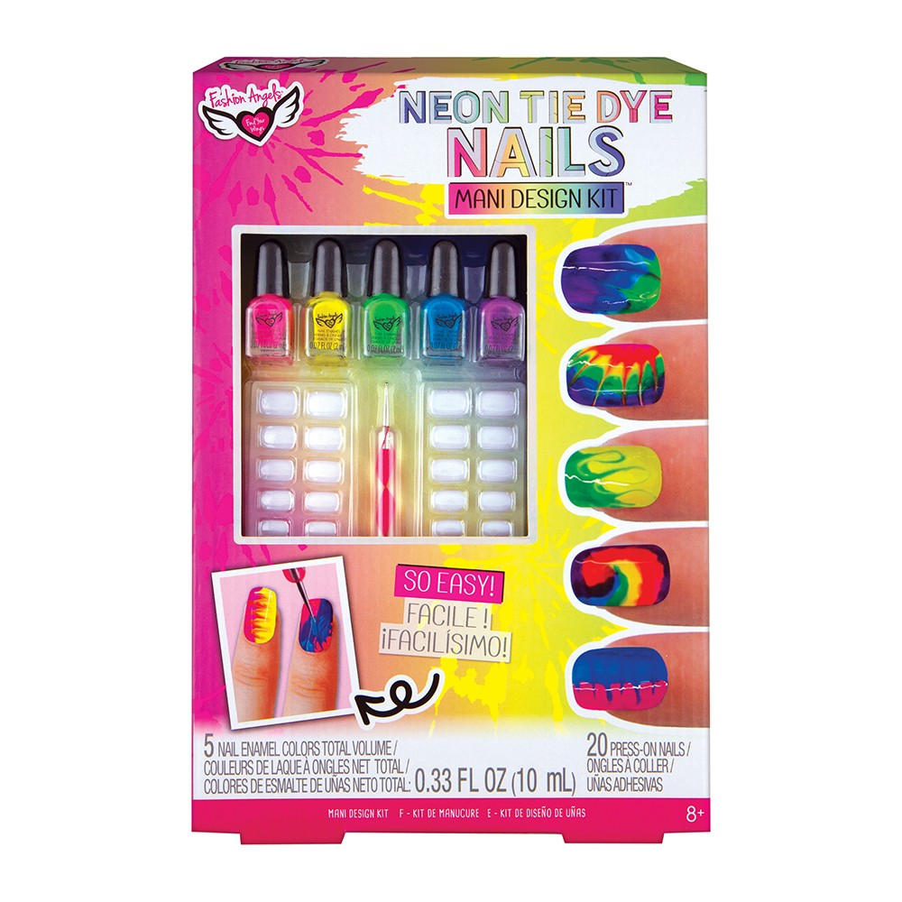 Neon Tie Dye Nails Design Kit