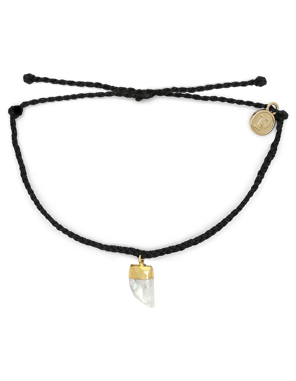 Stone Shark Tooth Charm Bracelet by Pura Vida - Black