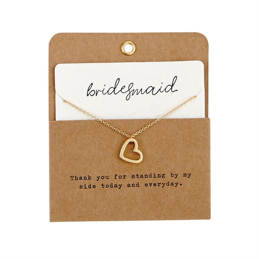 Bridesmaid Heart Charm Necklace