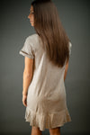 Southern Comfort T Shirt Dress In Grey