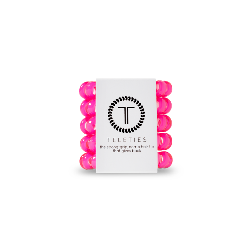 Pink Tiny Hair Ties by Teleties