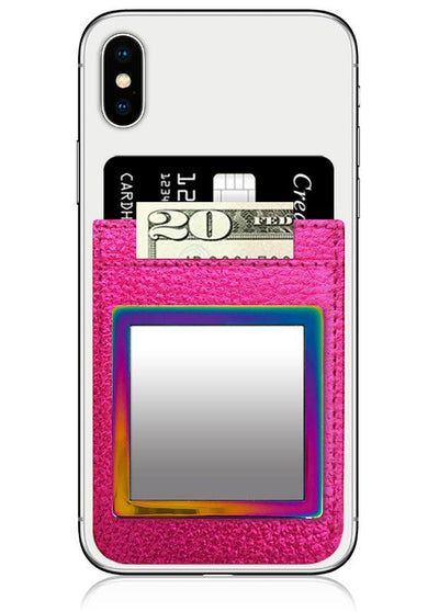 Iridescent Square Cell Phone Mirror