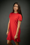 Southern Comfort T Shirt Dress In Red