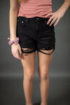 Endless Summer High Rise Shorts In Black