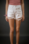 Endless Summer High Rise Shorts In White