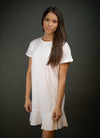 Southern Comfort T Shirt Dress In White