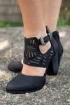 Black Western Cut Out Bootie