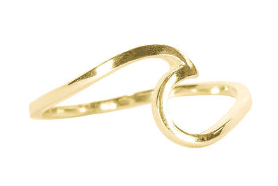Gold Wave Ring by Pura Vida