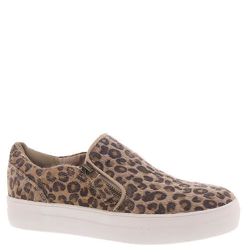 Fuzzy Leopard Slip On Sneakers