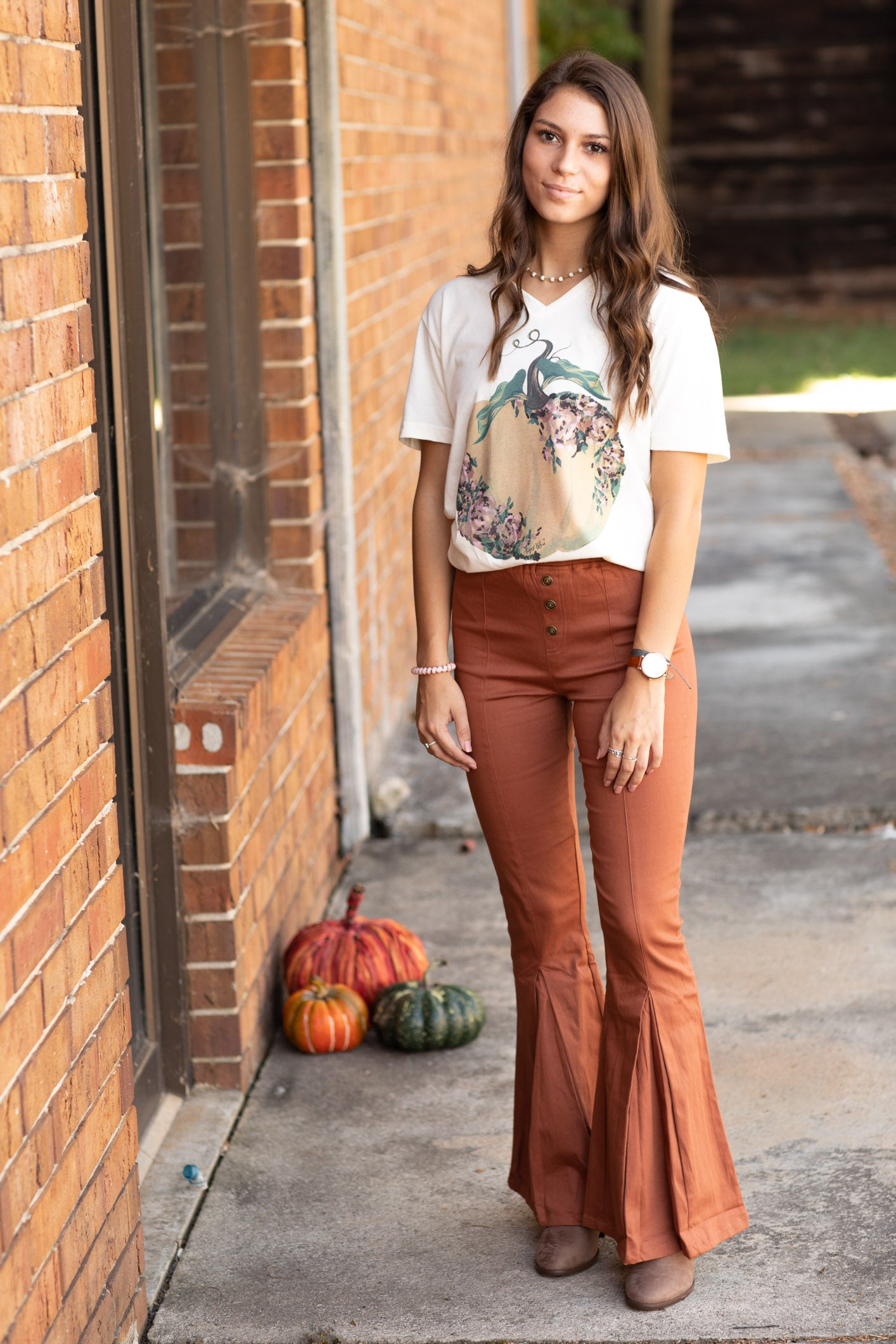 Rockin' The 70's Flares In Clay