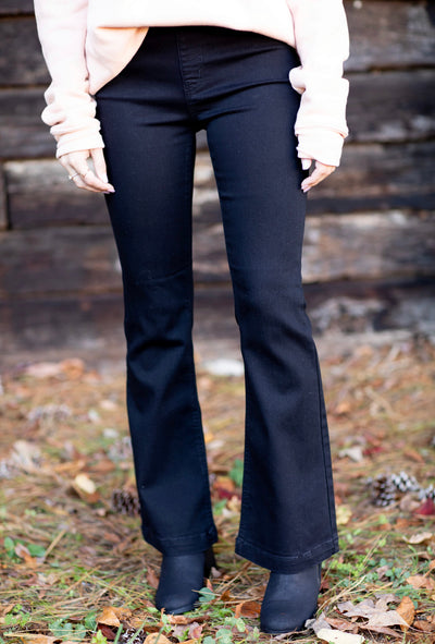 Black Fashion Flares in Petite